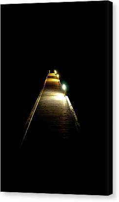Night Jetty Canvas Print by Andrew Dickman