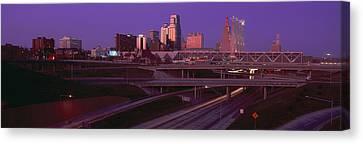 Night, Kansas City, Missouri Canvas Print by Panoramic Images