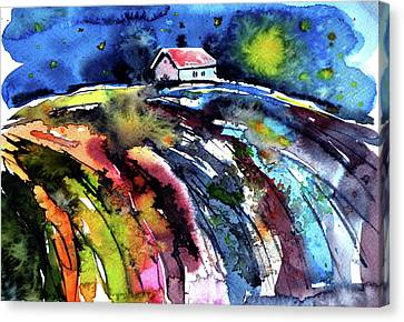 Night Canvas Print by Kovacs Anna Brigitta