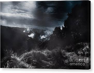 Night Landscape. Australian Mountain View Canvas Print by Jorgo Photography - Wall Art Gallery