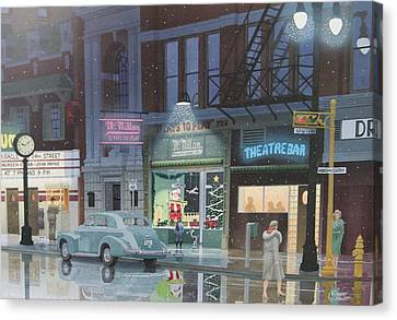 Night Life In The 1940s Canvas Print