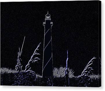 N.c Canvas Print - Night Light - Digital Art by Al Powell Photography USA