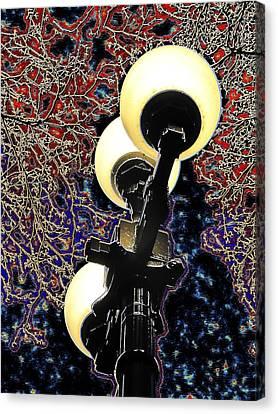 Lamp Post Canvas Print - Night Lights 3 by Tim Allen