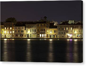 Night Lights Canvas Print by Marion Galt
