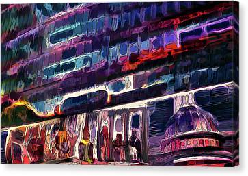 Night Lights Of London Canvas Print by Alex Galkin