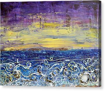 Night Lit Shoreline Canvas Print
