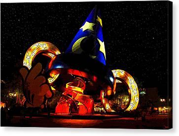 Hollywood Studios Canvas Print - Night Magic by David Lee Thompson