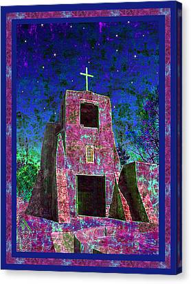 Night Magic San Miguel Mission Canvas Print by Kurt Van Wagner