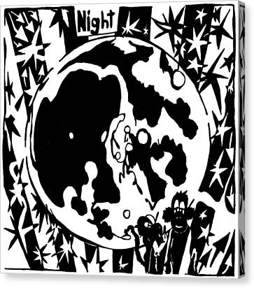 Night Maze Canvas Print by Yonatan Frimer Maze Artist