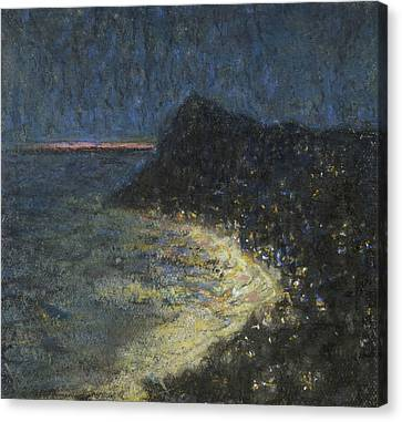 Italian Landscape Canvas Print - Night Motif From Capri by Ants Laikmaa