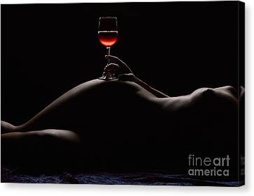 Wine Canvas Print - Night by Naman Imagery