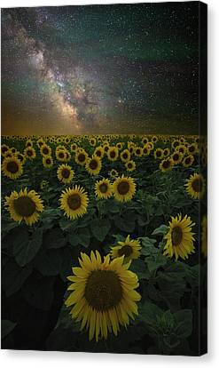 Canvas Print featuring the photograph Night Of A Billion Suns by Aaron J Groen
