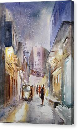 Night Of Lahore Canvas Print by MKazmi Syed