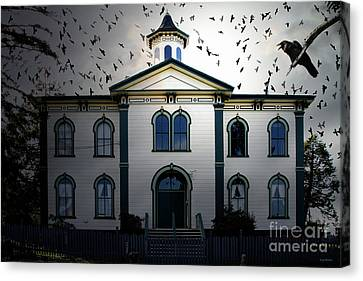Night Of The Birds . 7d12487 Canvas Print by Wingsdomain Art and Photography