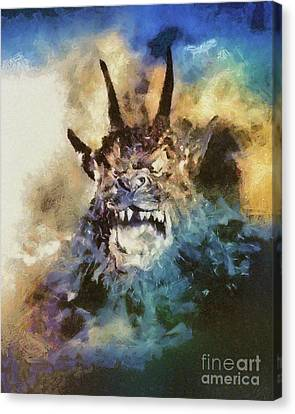 Night Of The Demon, Vintage Horror Canvas Print