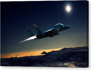Night Of The Eagle Canvas Print by Peter Chilelli