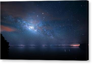 Canvas Print featuring the photograph Night Of The Milky Way by Mark Andrew Thomas