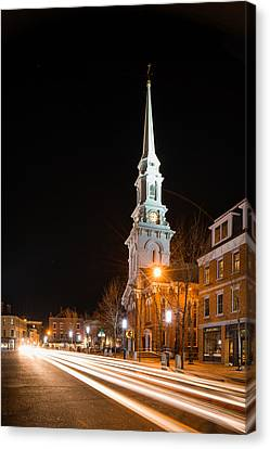 Night On Congress Street Canvas Print