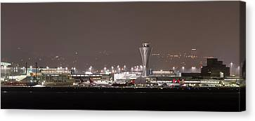 Canvas Print featuring the photograph Night Operations by Alex Lapidus