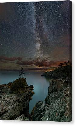 Night Over Quoddy Channel Canvas Print by Michael Blanchette