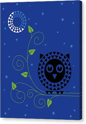 Night Owl Canvas Print by Ron Magnes