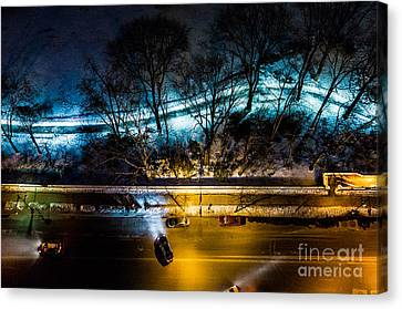 Canvas Print featuring the photograph Central Park by M G Whittingham