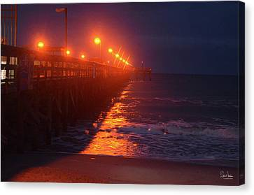 Night Pier Canvas Print by Gordon Mooneyhan