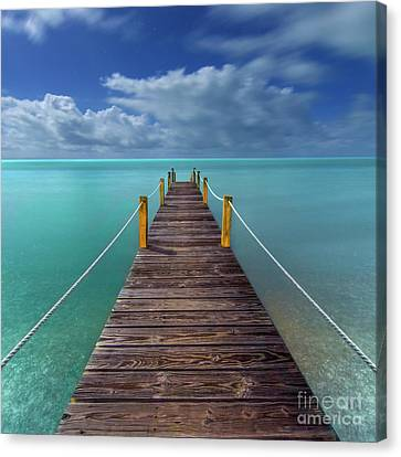 Night Pier Canvas Print by Marco Crupi