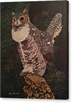 Prowler Canvas Print - Night Prowler by Doria Dieckmann