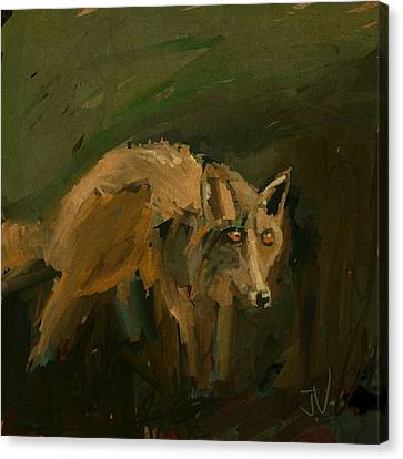 Canvas Print featuring the digital art Night Prowler by Jim Vance