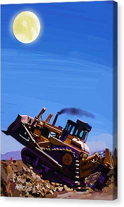 Night Push Canvas Print by Brad Burns