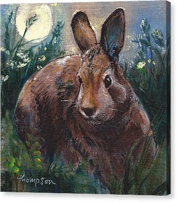 Night Rabbit I Canvas Print
