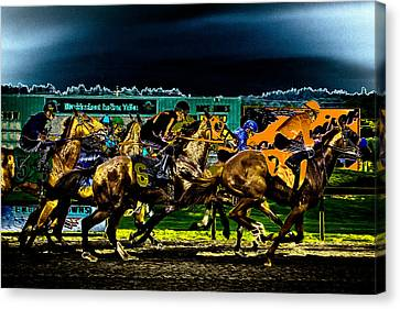Night Racing Canvas Print by David Patterson