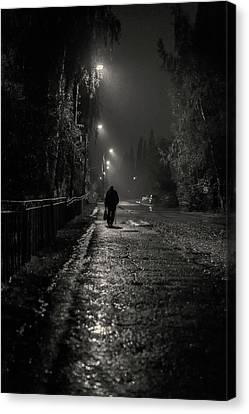 William Strode Canvas Print - Night Rain And Alone by John Williams