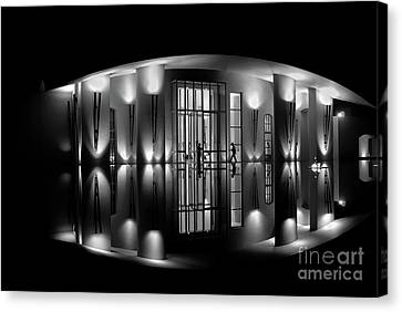 Night Reflection Canvas Print by M G Whittingham