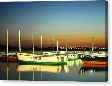 Night Reflections Canvas Print by Bob Cuthbert