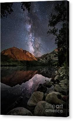 Night Reflections Canvas Print by Melany Sarafis