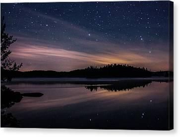 Night Reflections On Pharaoh Lake Canvas Print