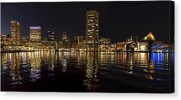 Night Reflections - Pano Canvas Print by Brian Wallace