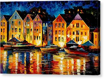 Night Resting Original Oil Painting  Canvas Print by Leonid Afremov