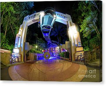 Night Ride On The Rock And Roll Coaster Canvas Print