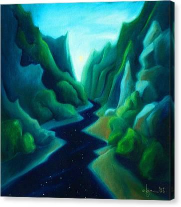 Night River Canvas Print