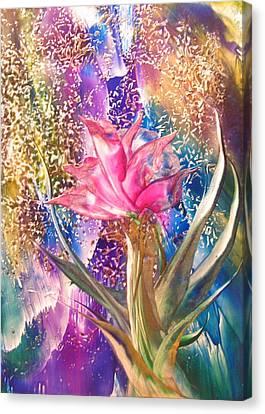 Night Rose Canvas Print by John Vandebrooke