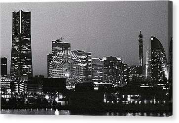 Night Scene Of Yokohama Canvas Print
