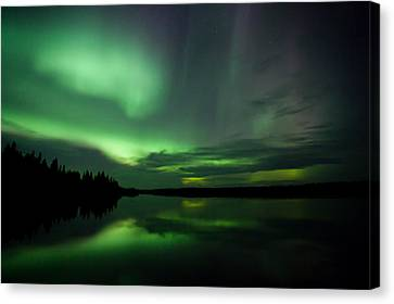 Canvas Print featuring the photograph Night Show by Yvette Van Teeffelen