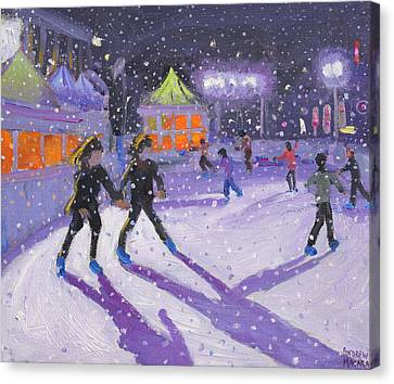 Purple Shadow Canvas Print - Night Skaters by Andrew Macara