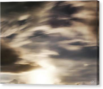 Canvas Print featuring the photograph Night Sky 1 by Leland D Howard