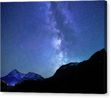 Canvas Print featuring the photograph Night Sky In David Thomson Country by Dan Jurak