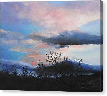 Night Sky Canvas Print by M Diane Bonaparte