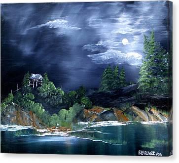 Night Sky Canvas Print by Rebecca  Fitchett